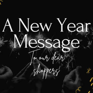 Happy new year to all our shoppers